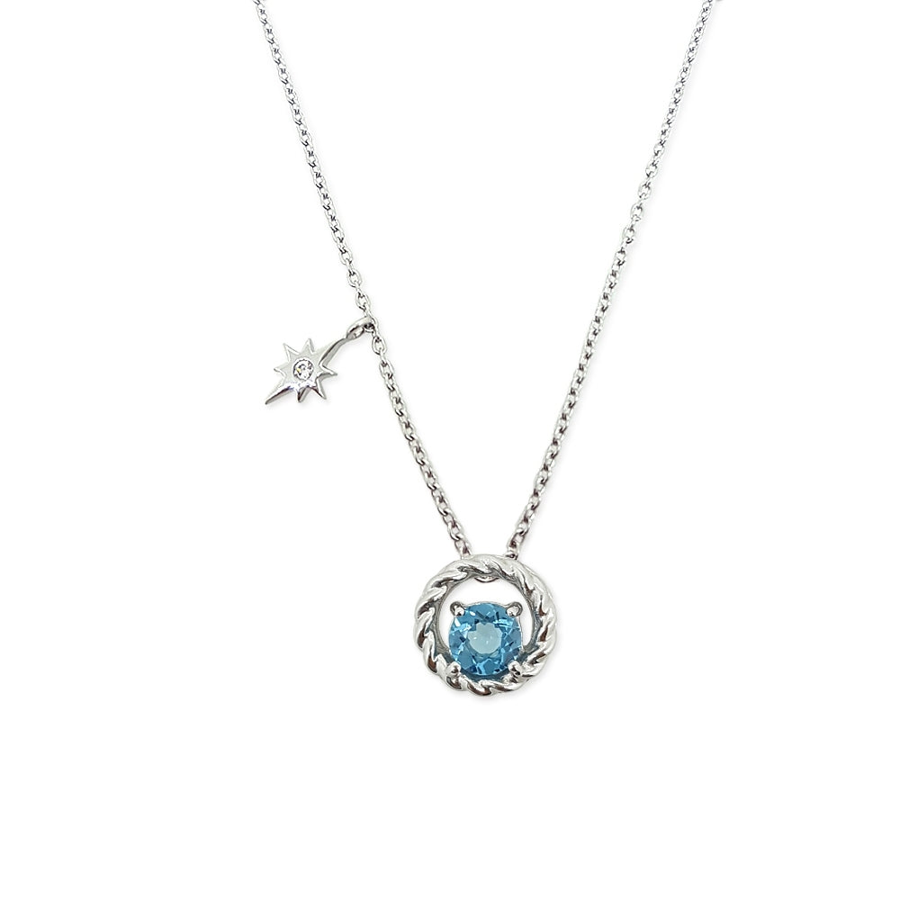 Colors Of The Unicorn Necklace - Blue Topaz