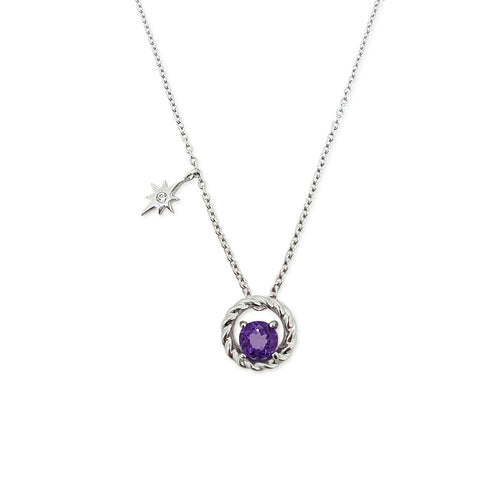 Colors Of The Unicorn Necklace - Amethyst