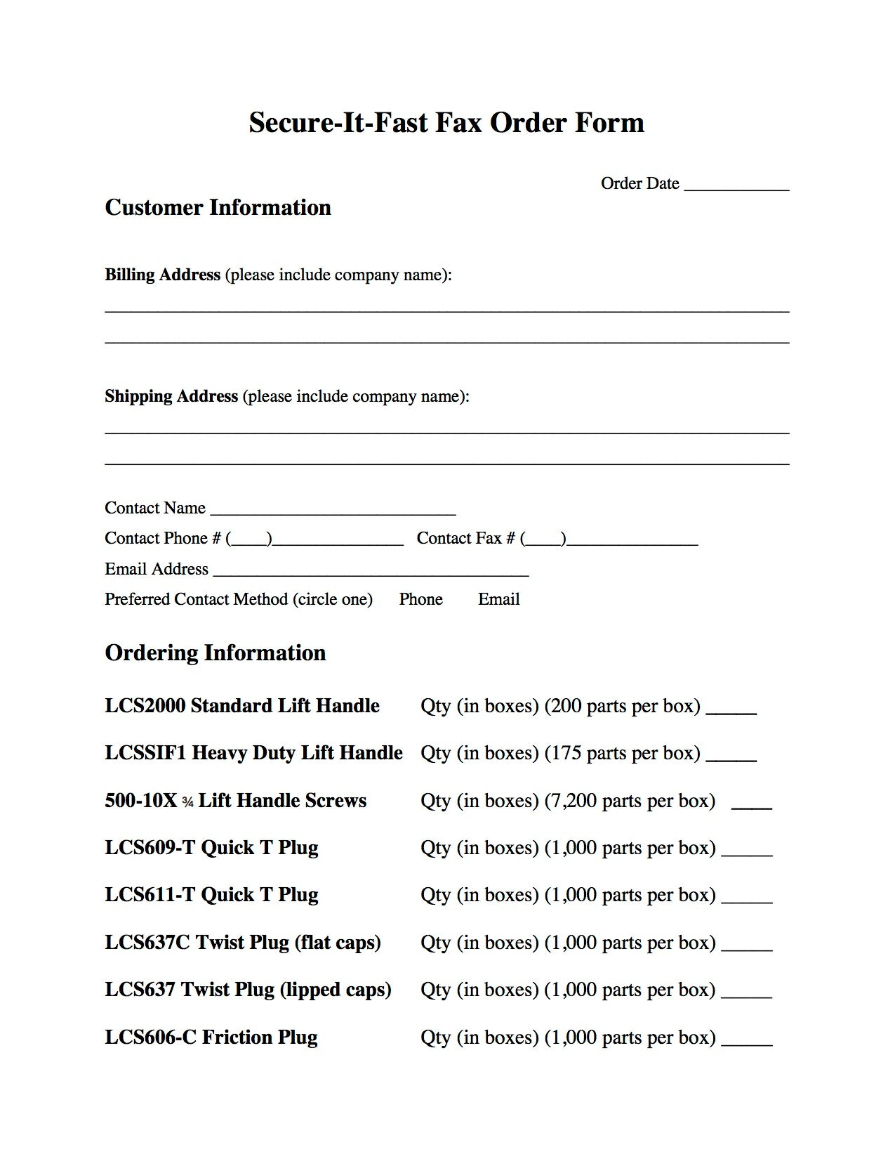 fax form secure it fast