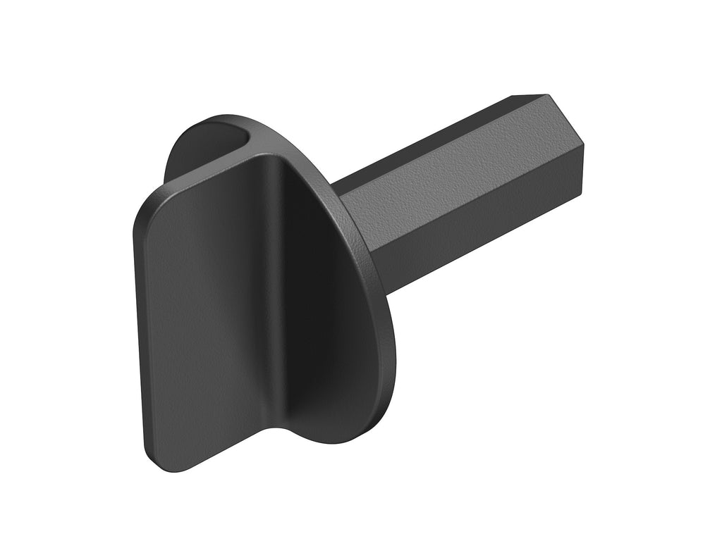 Door Plug Driver, One-Piece, Black Plastic, Door Plug, Door Closure, Front View