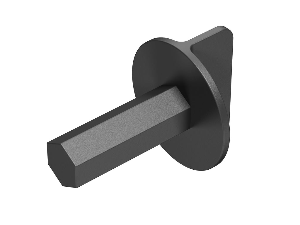 Door Plug Driver, One-Piece, Black Plastic, Door Plug, Door Closure, Back View