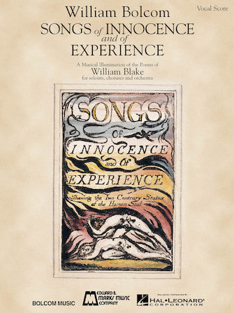 Bolcom, William - Songs of Innocence and of Experience - Opera Vocal Score (English)