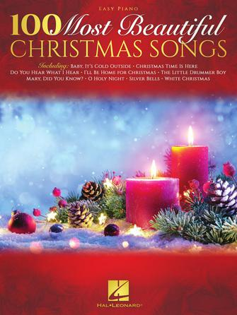 XMAS - One Hundred (100) Most Beautiful Christmas Songs - Easy Piano - Piano Solo Collection w/Lyrics