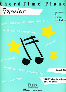 ChordTime Popular Level 2B Faber Piano Adventures Book