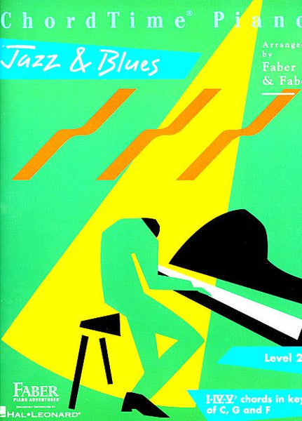 ChordTime Jazz & Blues Level 2B Faber Piano Adventures Book