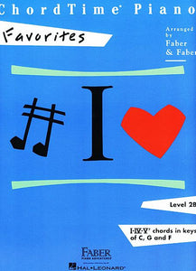 ChordTime Favorites Level 2B Faber Piano Adventures Book