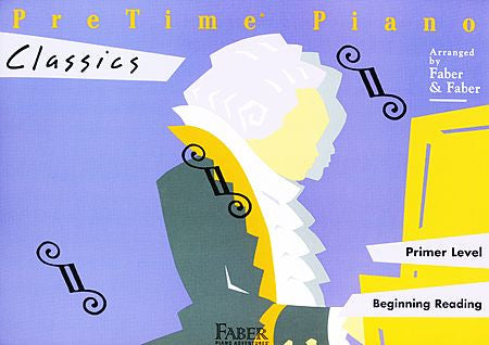 PreTime Classics Primer Level Faber Piano Adventures Book