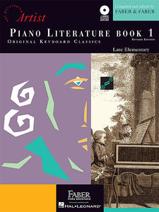 Piano Literature - Book 1 Developing Artist Original Keyboard Classics compiled by Faber & Faber Faber Piano Adventures Book/CD Pack
