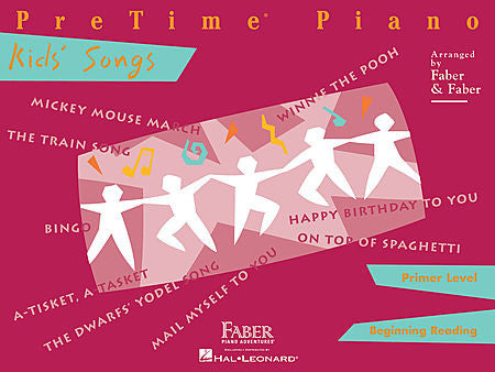 PreTime Kids' Songs Primer Level Faber Piano Adventures Book