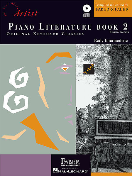Piano Literature - Book 2 Developing Artist Original Keyboard Classics compiled by Faber & Faber Faber Piano Adventures Book/CD Pack