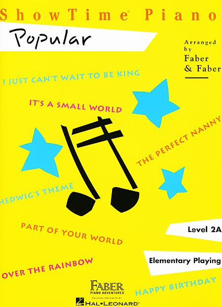 ShowTime Popular Level 2A Faber Piano Adventures Book