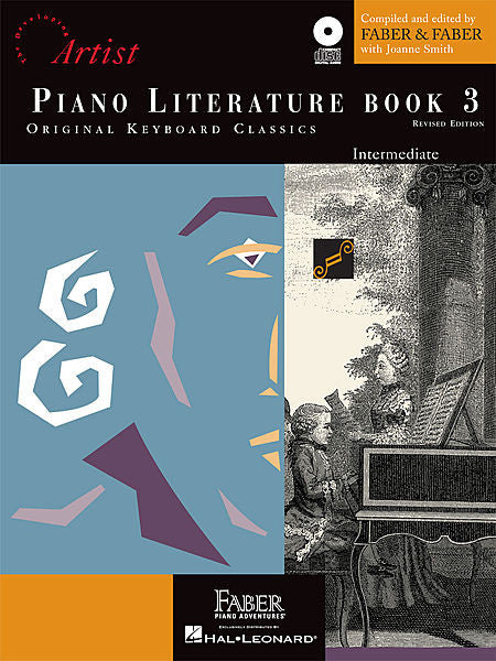 Piano Literature - Book 3 Developing Artist Original Keyboard Classics compiled by Faber & Faber Faber Piano Adventures Book/CD Pack