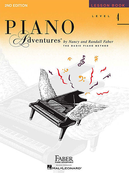 Level 4 - Lesson Book - 2nd Edition Piano Adventures Faber Piano Adventures Lesson Book