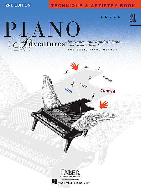 Level 2A - Technique & Artistry Book - 2nd Edition Piano Adventures Faber Piano Adventures Technique & Artistry Book