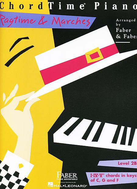 ChordTime Ragtime & Marches Level 2B Faber Piano Adventures Book