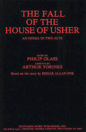 Glass - The Fall of the House of Usher - Libretto