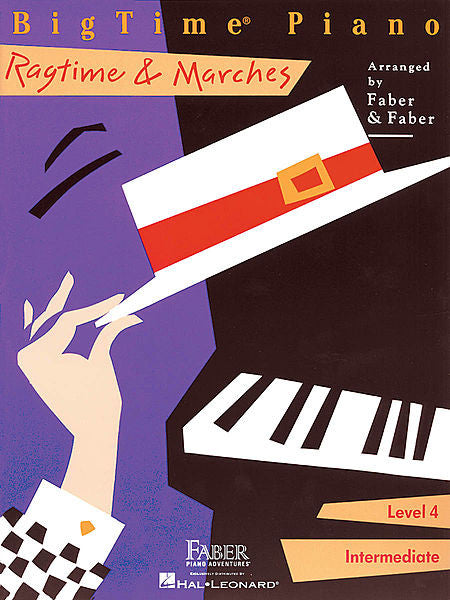 BigTime Ragtime & Marches Level 4 Faber Piano Adventures Book