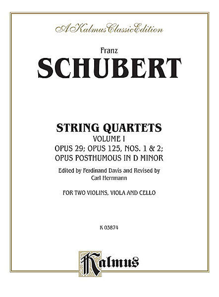String Quartets, Volume I: Op. 29; Op. 125, Nos. 1 & 2; Op. Posth. in D Minor
