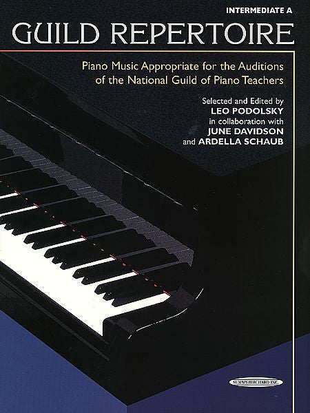 Guild Repertoire: Piano Music Appropriate for the Auditions of the National Guild of Piano Teachers, Intermediate A