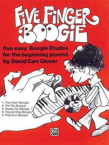 Glover, David Carr - Five Finger Boogie - Five (5) Easy Boogie Etudes for the Beginning Pianist