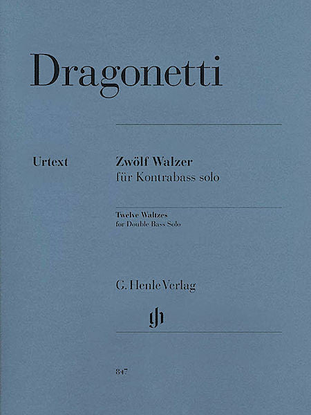 12 Waltzes for Double Bass Solo Double Bass Solo (ed. Tobias Glocker) Henle Music Folios Double Bass Solo