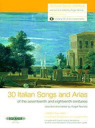 30 Italian Songs and Arias (17th-18th Cent.) - Collection Med.-Low Bk/CD, Roger Nichols - Sheet Music