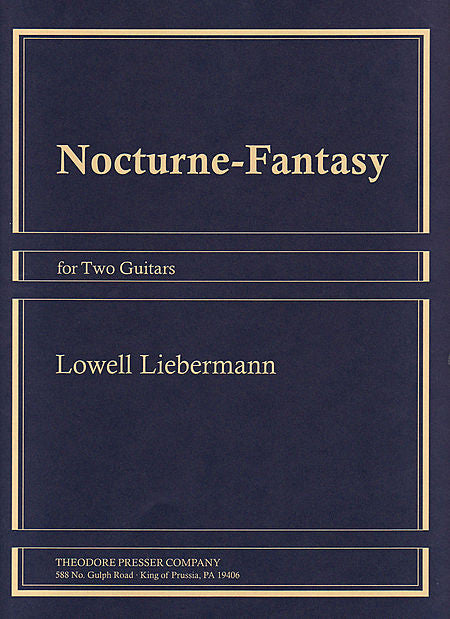 Nocturne-Fantasy For Two Guitars Guitar I, Guitar II - Lowell Liebermann
