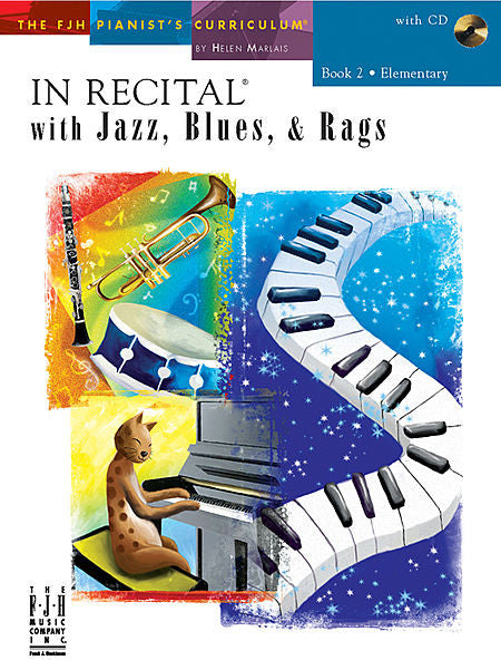 In Recital with Jazz, Blues, & Rags, Book 2 - various - Piano Book