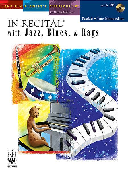 In Recital with Jazz, Blues, & Rags, Book 6 - various - Piano Book