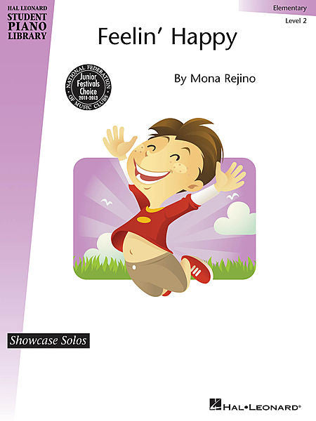 Feelin' Happy Showcase Solos Elementary - Level 2 by Mona Rejino Elementary - Level 2 Educational Piano Library