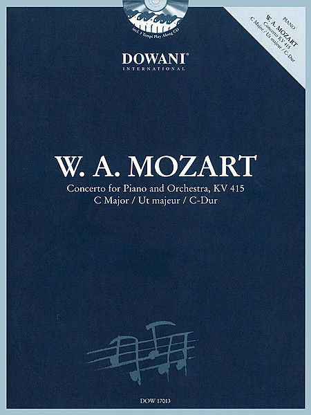 Concerto for Piano and Orchestra, KV 415 in C Major Dowani Book/CD Book/2-CD Pack
