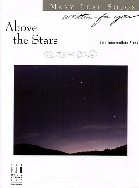 Above the Stars - Mary Leaf - Piano Solo Sheet