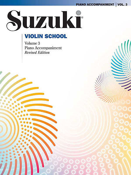 Suzuki Violin School Piano Acc., Volume 3 (Revised)