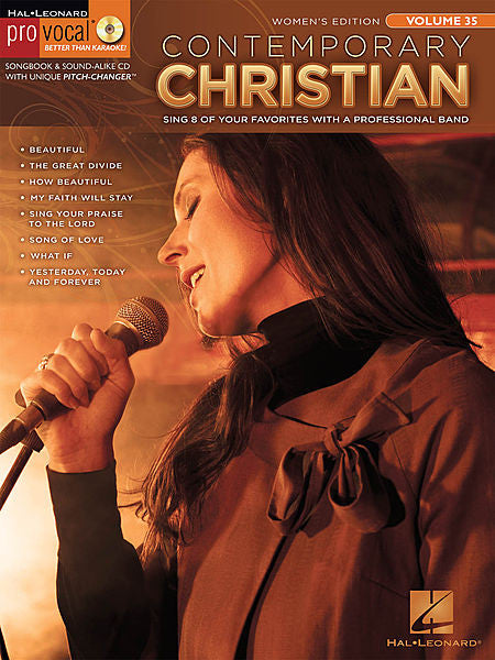 Contemporary Christian Pro Vocal Women's Edition Volume 35 Book/CD Pack Pro Vocal Melody/Lyrics/Chords