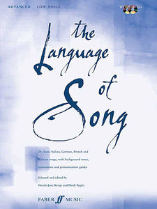 The Language of Song: Advanced Low Voice, Bk/2CDs