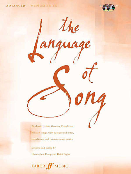 The Language of Song: Advanced Medium Voice, Bk/2CDs