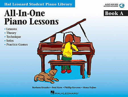 All-in-One Piano Lessons Book A Educational Piano Library Book/Online Audio