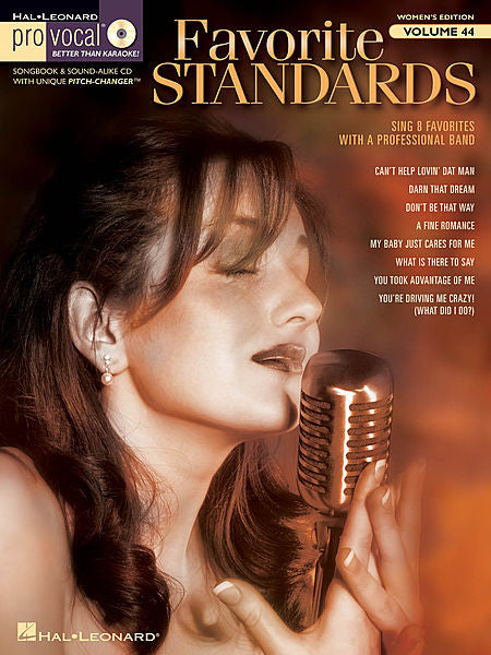 Favorite Standards Pro Vocal Women's Edition Volume 44 Book/CD Pack Pro Vocal Melody/Lyrics/Chords