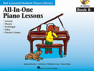 All-In-One Piano Lessons Book B Educational Piano Library Book/Online Audio