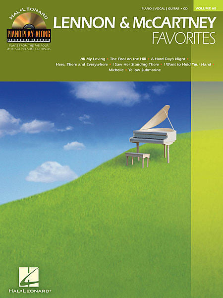 Lennon & McCartney Favorites Piano Play-Along Volume 68 Book/CD Pack Piano Play-Along P/V/G