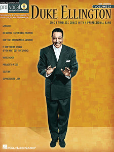 Duke Ellington Pro Vocal Series Volume 24 Pro Vocal Melody/Lyrics/Chords