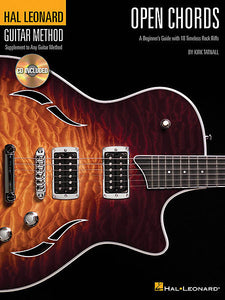 Open Chords A Beginner's Guide with 18 Timeless Rock Riffs by Kirk Tatnall Guitar Method Book/CD Pack