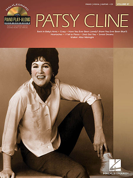Patsy Cline Piano Play-Along Volume 87 Book/CD Pack Piano Play-Along P/V/G