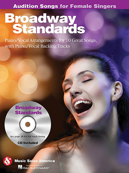 Broadway Standards - Audition Songs for Female Singers Piano/Vocal/Guitar Arrangements with CD Backing Tracks Book/CD Pack Audition Songs P/V/G