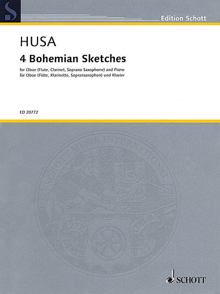 4 Bohemian Sketches Oboe (Flute, Clarinet, or Soprano Saxophone) and Piano Score and Parts Woodwind Oboe (Flute, Clarinet, or Soprano Saxophone)