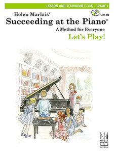 Succeeding at the Piano , Lesson and Technique Book - Grade 1 (with CD) - various - Piano Book
