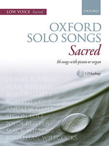 Oxford Solo Songs: Sacred - Miscellaneous - Low voice book + CD Sheet Music