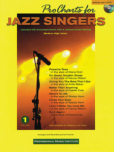 Pro Charts for Jazz Singers Medium High Voice arr. Nick Fryman Book/CD Packs Vocal Collection Medium High Voice