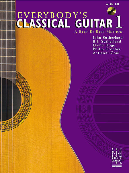 Everybody's Classical Guitar 1 A Step By Step Method - various - Guitar Book
