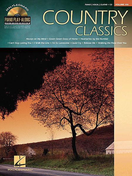 Country Classics Piano Play-Along Volume 100 Book/CD Pack Piano Play-Along P/V/G (OUT OF PRINT)